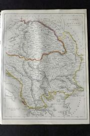 Barclay C1850 Antique Map. Turkey and Hungary